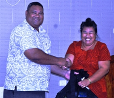 FFS President Laupama Solomona was also present at the Launching. Photo: FFS